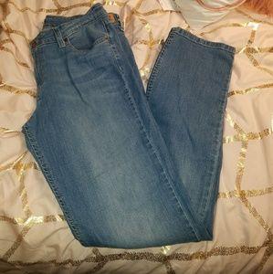 Levi's Straight Leg Jeans Med Wash SZ 13/14